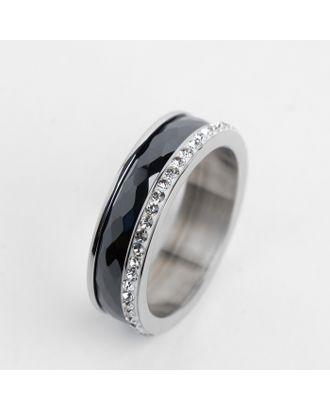 """Кольцо керамика """"Инь-Ян"""", цвет чёрно-белый в серебре, 16 размер арт. СМЛ-125756-1-СМЛ0004984735"""