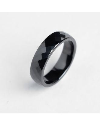 """Кольцо керамика """"Минимал"""" огранка ромб, 8 мм, цвет чёрный, 20 размер арт. СМЛ-117702-1-СМЛ0004984841"""