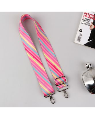 Ручка для сумки, стропа, 130 ± 5 см, цвет розовый, фурнитура МИКС арт. СМЛ-35057-1-СМЛ0004990810