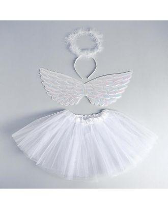 Карнавальный набор «Ангел», ободок, юбка, крылья, цвет белый арт. СМЛ-123162-1-СМЛ0005010800