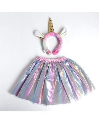 Карнавальный набор «Единорог», юбка, ободок арт. СМЛ-123164-1-СМЛ0005010802