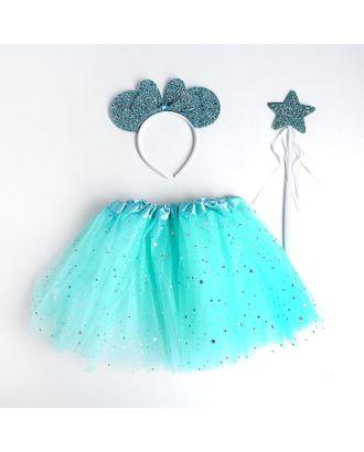 Карнавальный набор «Ушки», ободок, юбка, жезл арт. СМЛ-123165-1-СМЛ0005010803