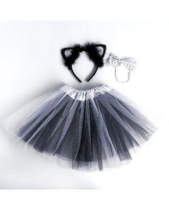 Карнавальный набор «Кошка», ободок, бабочка, юбка арт. СМЛ-123166-1-СМЛ0005010804
