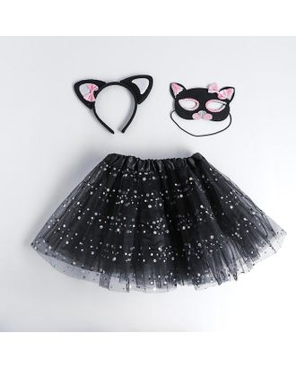 Карнавальный набор «Кошечка», ободок, маска, юбка арт. СМЛ-123167-1-СМЛ0005010805