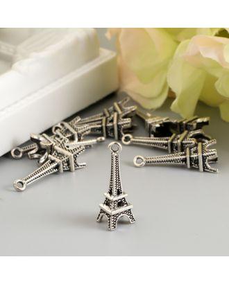 Подвеска Эйфелева башня, цвет серебро 0,7х2,4 см арт. СМЛ-121656-1-СМЛ0005015432