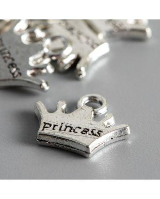 """Подвеска """"Корона принцессы"""" 1х1,3 см арт. СМЛ-121657-1-СМЛ0005015434"""