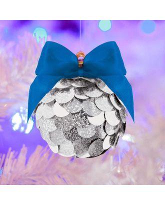 """Набор для творчества """"Новогодний шар"""" с пайетками, серебрянный арт. СМЛ-94765-1-СМЛ0005018411"""