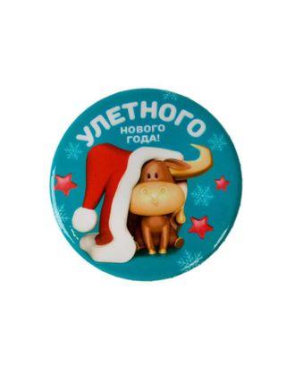 """Значок """"Улетного Нового года"""", 56 мм арт. СМЛ-39553-1-СМЛ0005045705"""