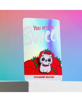 """Значок """"So sweet"""", 12 х 8 см арт. СМЛ-124108-1-СМЛ0005050470"""
