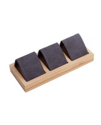 Подставка под серьги, дерево, 3 пары, 15.5*6,8, цвет чёрный арт. СМЛ-40577-1-СМЛ0005050491