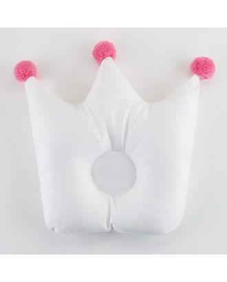 """Подушка детская Крошка Я """"Корона"""" 32х25 см, цв. белый/розовый арт. СМЛ-36608-1-СМЛ0005054061"""
