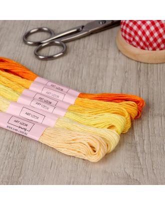 Набор ниток мулине, 8 ± 1 м, 7 шт, цвет жёлтый спектр арт. СМЛ-111806-1-СМЛ0005054413