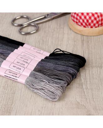 Набор ниток мулине, 8 ± 1 м, 7 шт, цвет серый спектр арт. СМЛ-111812-1-СМЛ0005054419