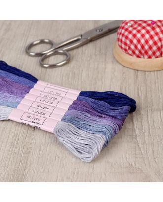 Набор ниток мулине, 8 ± 1 м, 7 шт, цвет фиолетовый спектр арт. СМЛ-111814-1-СМЛ0005054421