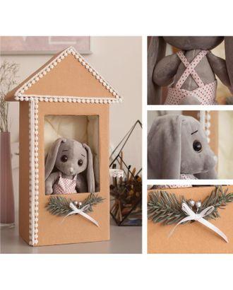 """Мягкий зайка """"Тирри"""" в домике, набор для творчества, 30 × 30 × 2 см арт. СМЛ-122276-1-СМЛ0005057911"""