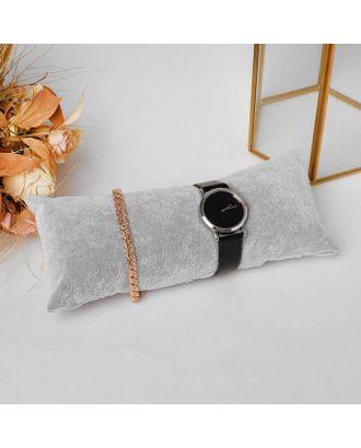 Подушка для украшений, 22*9 см, цвет серый арт. СМЛ-122075-1-СМЛ0005060459
