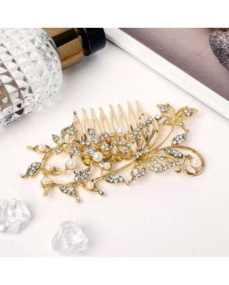 """Гребень для волос """"Полёт бабочек"""" 10х5,5 см, золото арт. СМЛ-39714-1-СМЛ0005065310"""