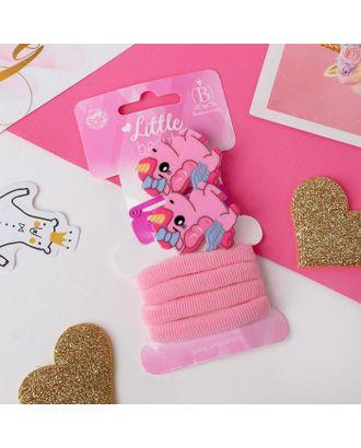 """Набор для волос """"Нежность"""" (4 резинки, 2 зажима, 2 невидимки) 4 и 4,5 см, розовые единорожки   50653 арт. СМЛ-108706-1-СМЛ0005065333"""