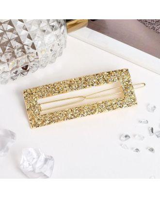 """Невидимка для волос """"Либерти лава"""" прямоугольник, 2,5х7 см, золото арт. СМЛ-40598-1-СМЛ0005065346"""