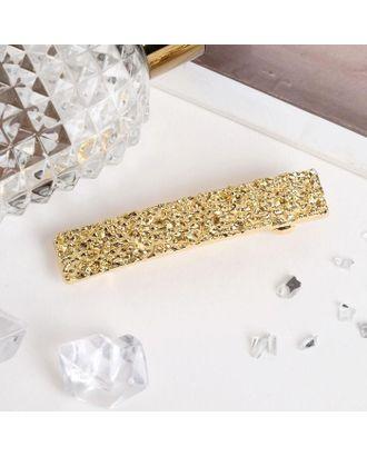 """Заколка-автомат для волос """"Либерти лава"""" 1,5х8,5 см прямоугольник, золото арт. СМЛ-40600-1-СМЛ0005065353"""