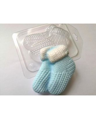 """Пластиковая форма """"Вязаные бабушкины носочки"""" 6,5х9,5 см арт. СМЛ-119892-1-СМЛ0005067302"""