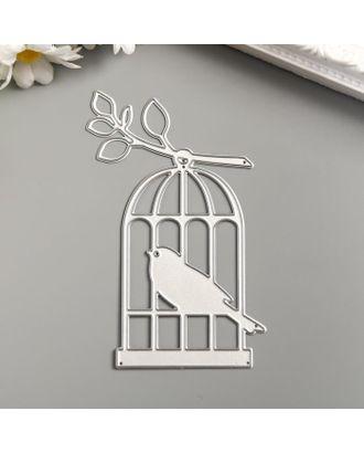 """Нож для вырубки сталь """"Птица в клетке"""" 10х6,5 см арт. СМЛ-123298-1-СМЛ0005067706"""