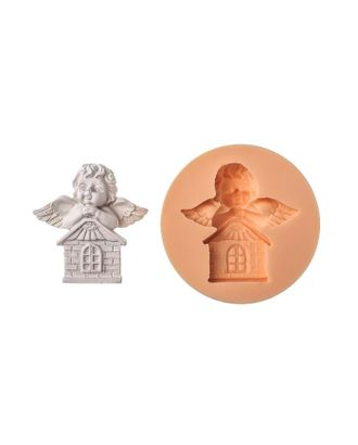 "Молд силикон ""Ангел на домике""4,5х4,5 см МИКС арт. СМЛ-108608-1-СМЛ0005070499"