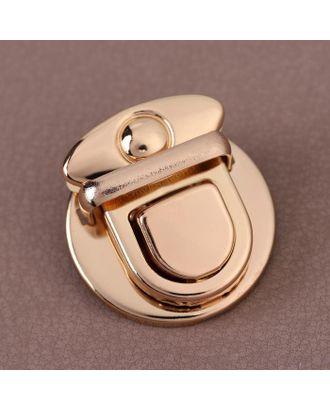 Застёжка для сумки, 3 × 3 см, цвет золотой арт. СМЛ-38949-1-СМЛ0005070538