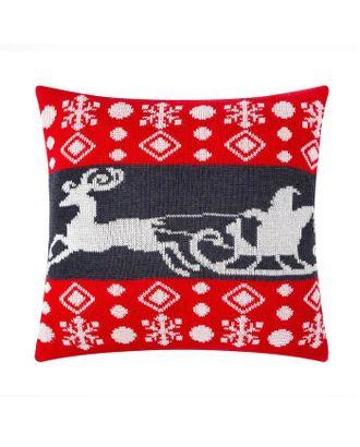 """Чехол на подушку вязаный """"Этель"""" Новогоднее чудо, 35х35 см арт. СМЛ-116015-1-СМЛ0005091231"""