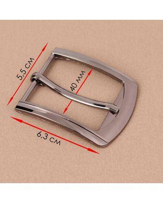 Пряжка для ремня, 6,3 × 5,5 см, 40 мм, цвет чёрный никель арт. СМЛ-123320-1-СМЛ0005094956
