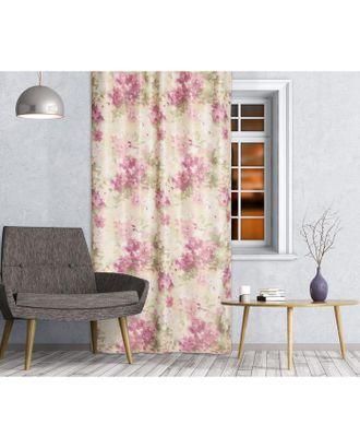 Штора портьерная Блэкаут «Flora» размер 140х260 см, цвет бордовый арт. СМЛ-38230-1-СМЛ0005108508