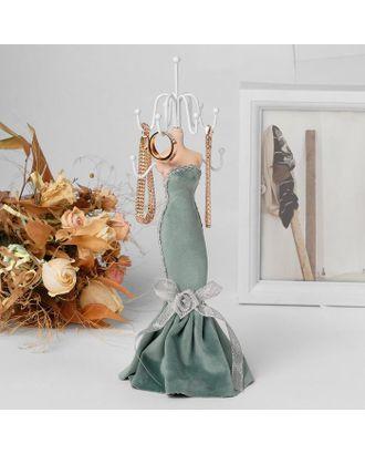 """Подставка для урашений """"Силуэт девушки в платье"""", h=28, цвет морской арт. СМЛ-116331-1-СМЛ0005111732"""