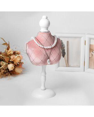 """Подставка для урашений """"Силуэт"""" бюст, h=36 см, цвет розовый арт. СМЛ-116333-1-СМЛ0005111734"""