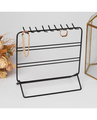 Подставка для украшений, 3 ряда, 20,5*10*19,5 см, цвет чёрный арт. СМЛ-122705-1-СМЛ0005111743