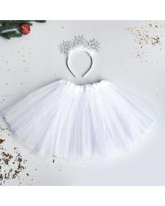 Карнавальный набор «Маленькая снежинка» ободок, юбка арт. СМЛ-123175-1-СМЛ0005113332