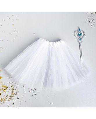 Карнавальный набор «Снежинка» палочка, юбка арт. СМЛ-123176-1-СМЛ0005113333