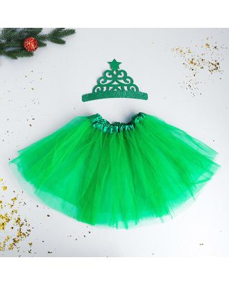 Карнавальный набор «Яркая ёлочка» ободок, юбка арт. СМЛ-123177-1-СМЛ0005113334