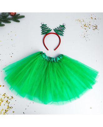 Карнавальный набор «Красавица-ёлочка» ободок, юбка арт. СМЛ-123178-1-СМЛ0005113335