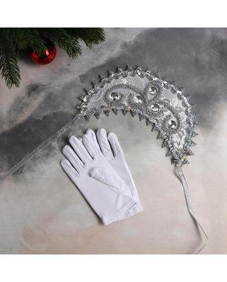 """Карнавальный набор """"Прекрасная Снегурочка"""" ободок, перчатки арт. СМЛ-124832-1-СМЛ0005113336"""