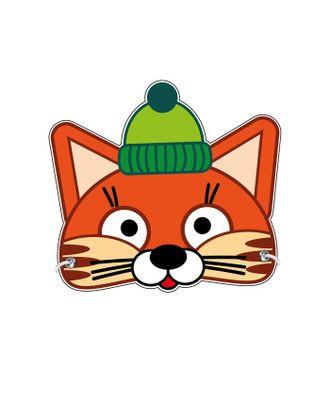Маска из картона «Кот в шапке» арт. СМЛ-122417-1-СМЛ0005115410