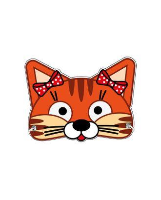 Маска из картона «Кошечка с бантиками» арт. СМЛ-122418-1-СМЛ0005115411