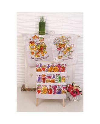Набор вафельных полотенец Джем 45х60см-3 шт (пакет), хл 100%, 170 г/м2 арт. СМЛ-36597-1-СМЛ0005116193