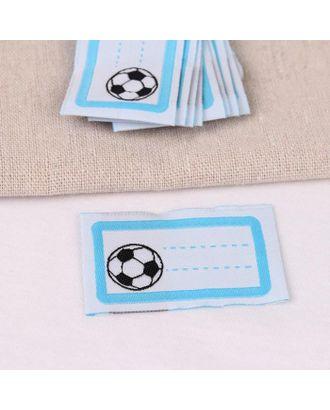 Нашивка «Мяч», 5,5 × 3,2 см, 10 шт, цвет голубой арт. СМЛ-123323-1-СМЛ0005116319