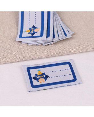Нашивка «Совёнок», 5,5 × 3,2 см, 10 шт, цвет синий арт. СМЛ-123324-1-СМЛ0005116320