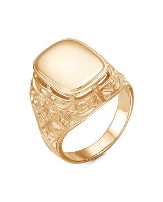 """Кольцо мужское """"Перстень"""" с вензелем, позолота, 19,5 размер арт. СМЛ-110181-1-СМЛ0005121233"""