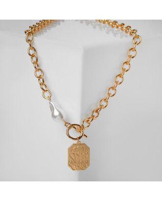 """Кулон """"Цепь"""" герб, цвет золото, 50см арт. СМЛ-123149-1-СМЛ0005132059"""