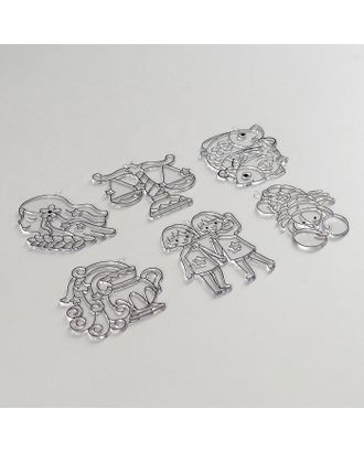 Витражи-мини- 6шт, набор 23 зодиак 1 SDOPP-S23 арт. СМЛ-36011-1-СМЛ0005132796