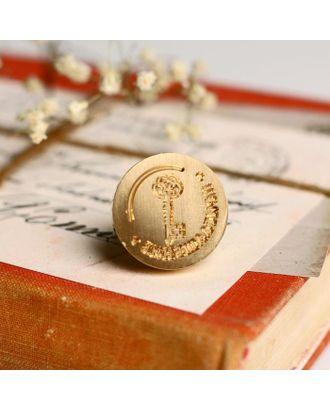 Штамп золотой «Приглашение», 2.5 х1,5 см арт. СМЛ-115710-1-СМЛ0005133543