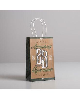 Пакет подарочный крафт «Лучшему мужчине», 28 х 32 х 15 см арт. СМЛ-117731-3-СМЛ0005134131