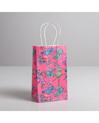 Пакет подарочный крафт «С 8 марта», 22 × 25 × 12 см арт. СМЛ-117732-3-СМЛ0005134136